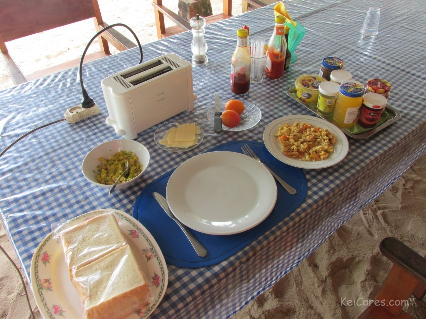 Breakfast at Savana Cottages