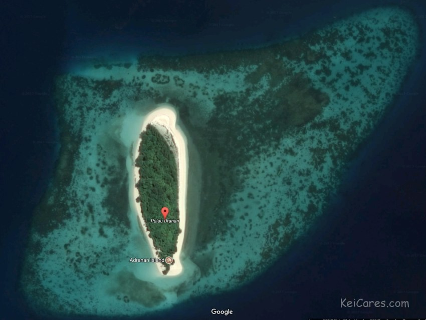Dranan island satellite view