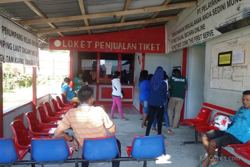 Pelni ticket office in Tual